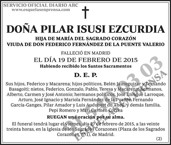 Pilar Isusi Ezcurdia